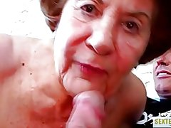 Oma (74) ho faty alte gierige kokusmatte